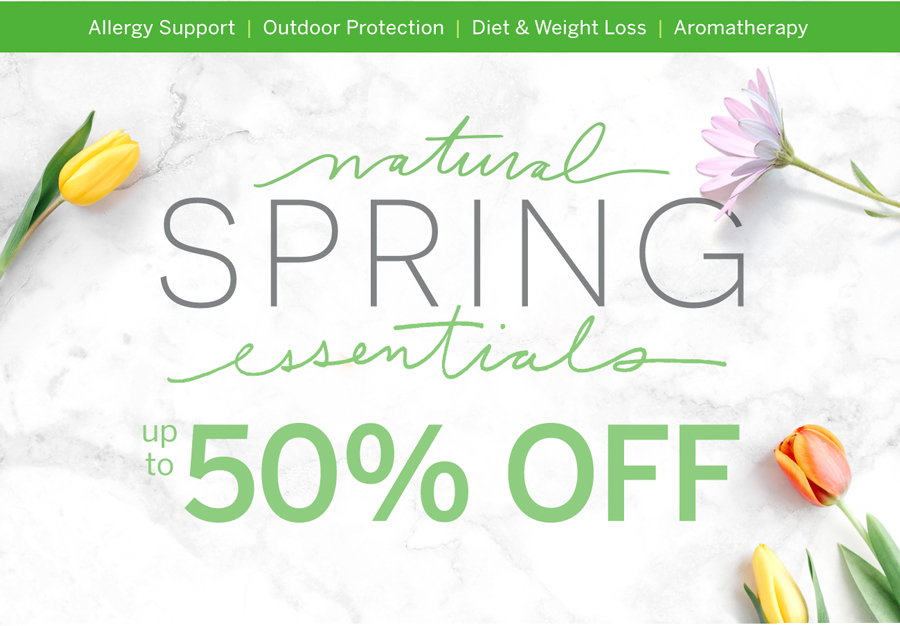 Natural Spring Essentials最高可达50 % - 立即购买